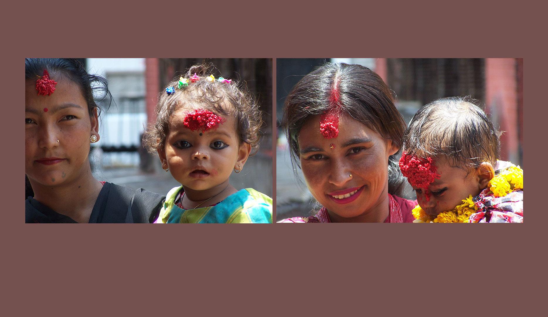Mères et Enfants à Katmandou