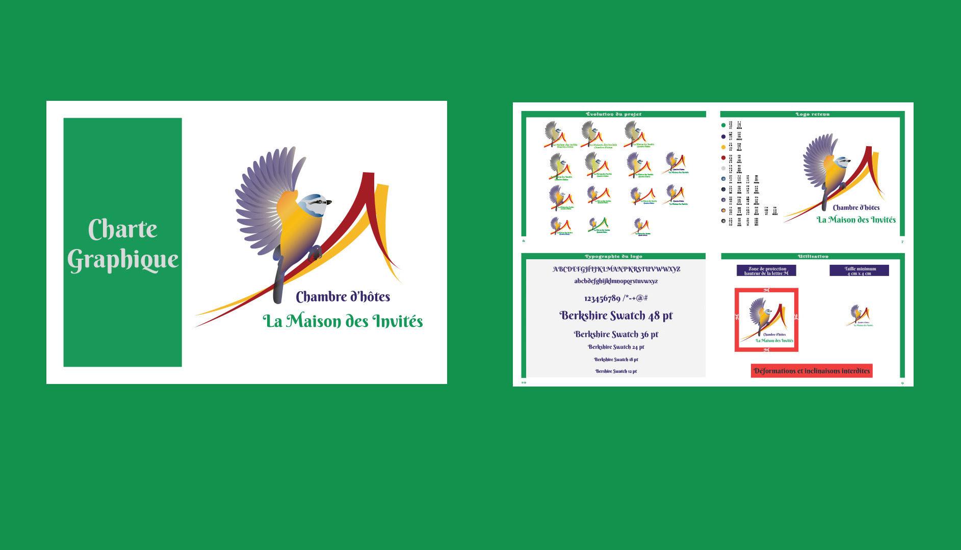 Logo et Charte Graphique - La Maison des Invités