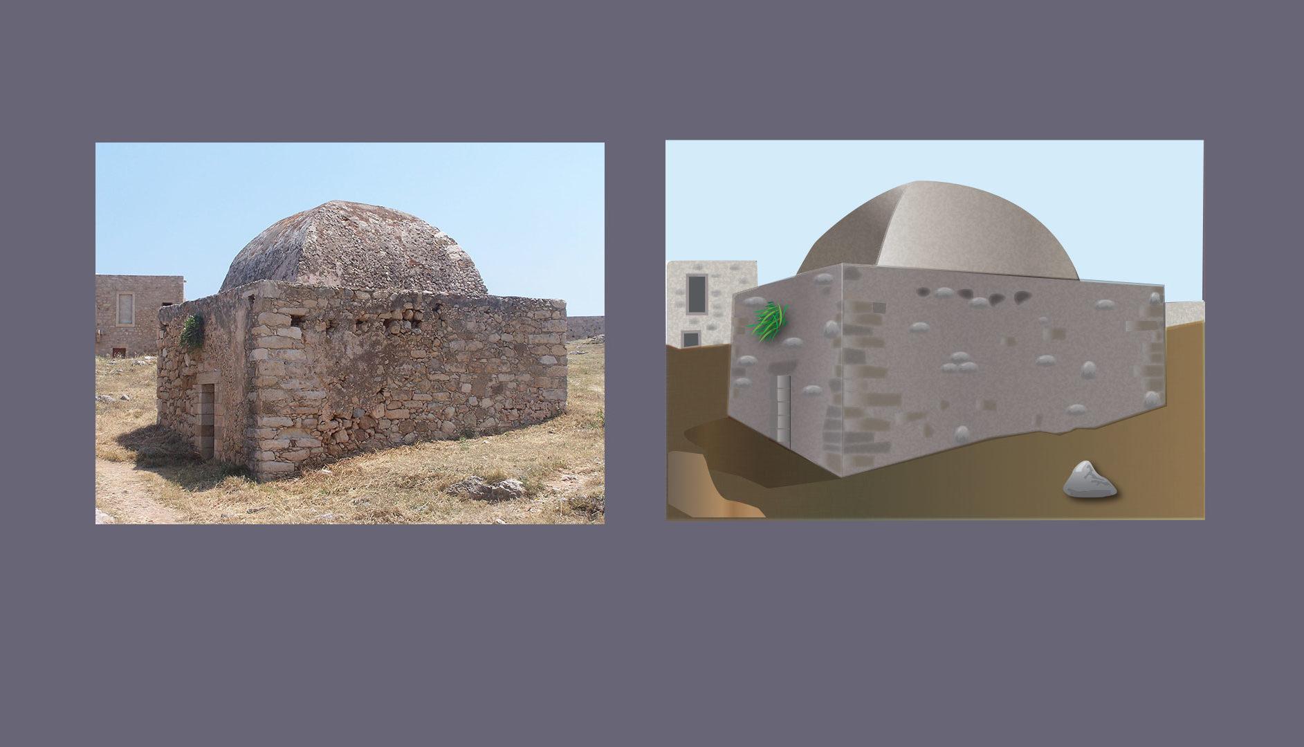 Paysage de Crète - Image vectorielle d'après photographie