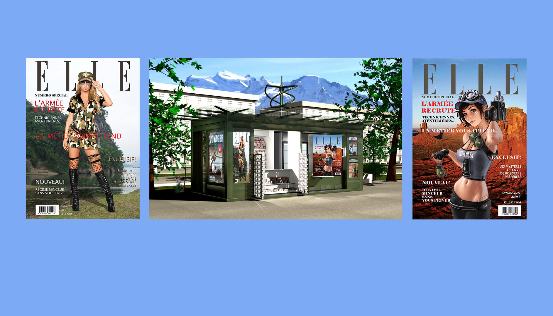 Couverture de Magazine - Mise en page sur Photoshop