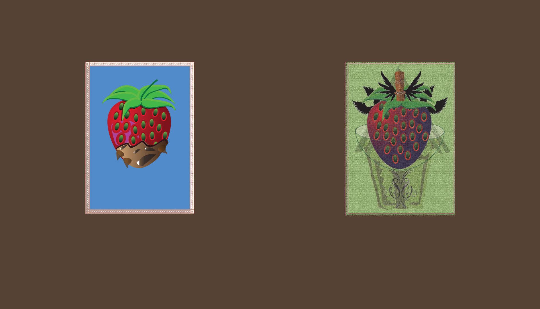 Fraise - Dessin vectoriel sur Illustrator