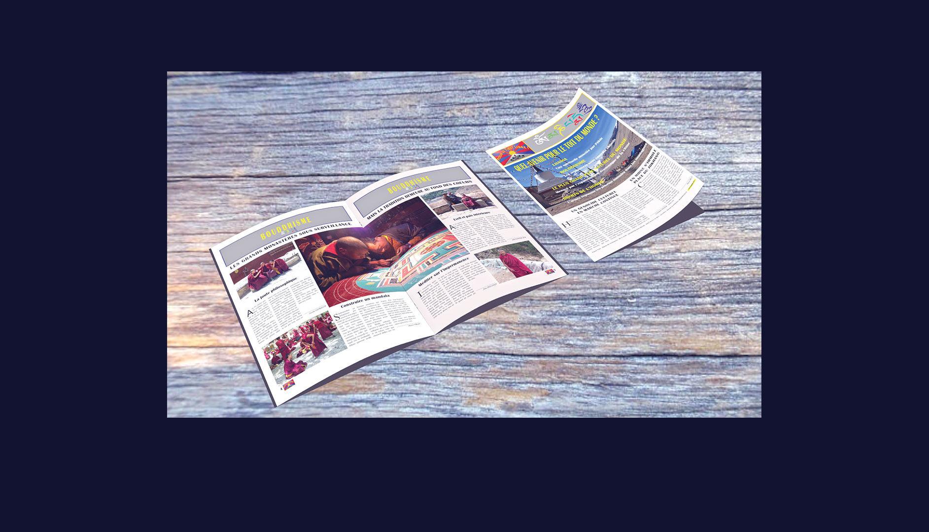 Mise en page de journaux sur Indesign