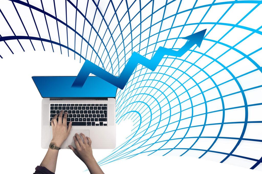 Création administration contrôle de gestion ordinateur avec graphique