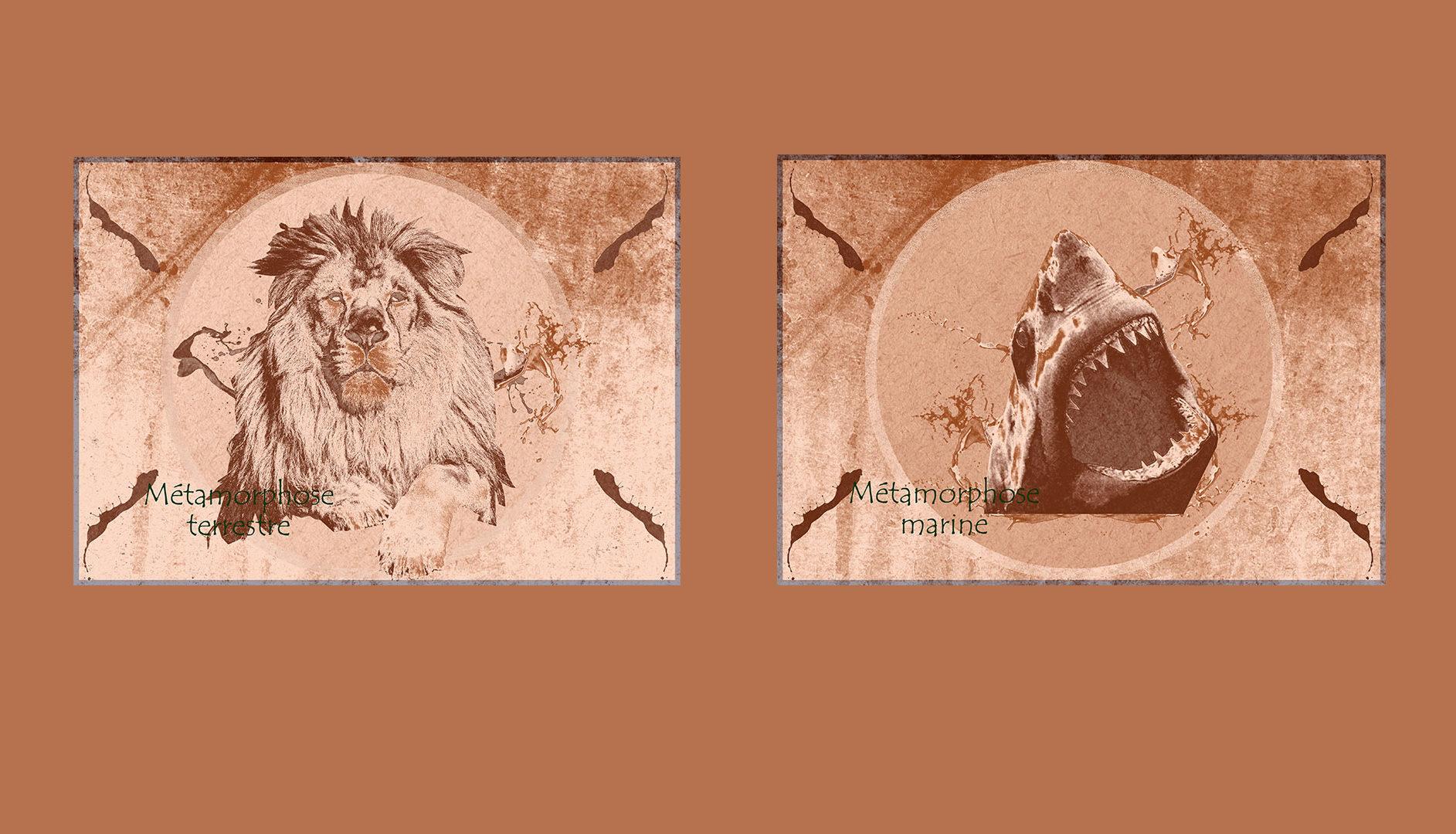 Lion et Requin - Masque de fusion Photoshop
