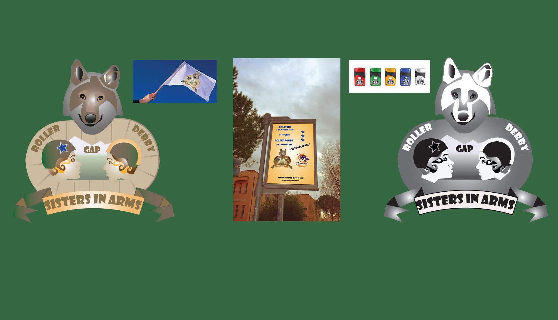 Logo et produits dérivés - Sisters in Arms