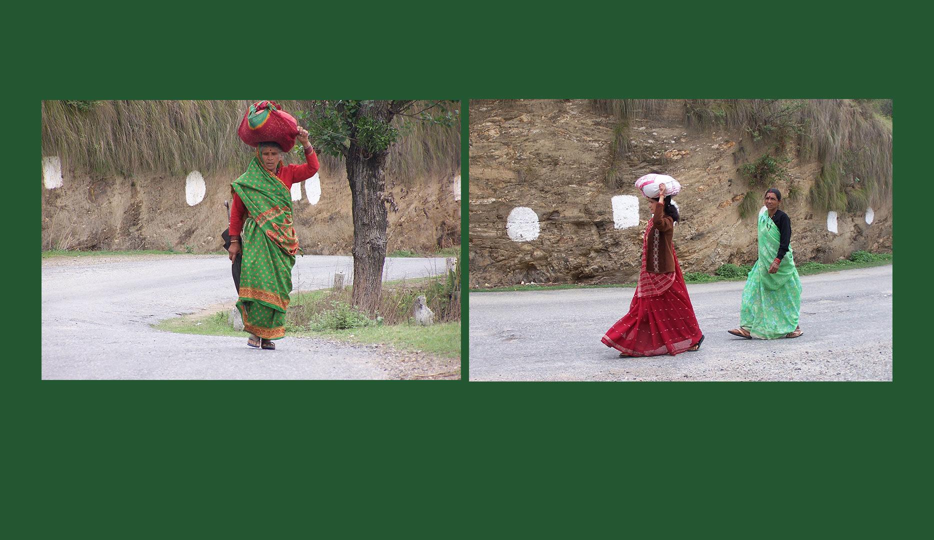 Porteuses en Inde