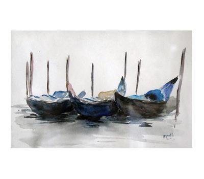 Peinture huile fusain aquarelle