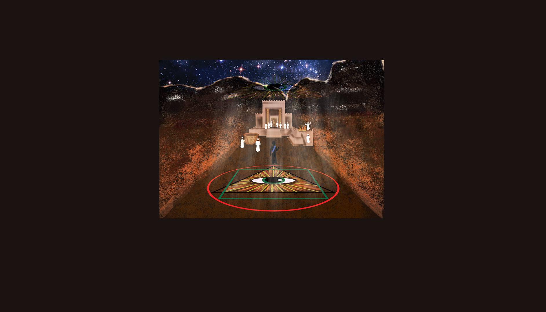 Chemin de l'initié vers le Temple de Salomon